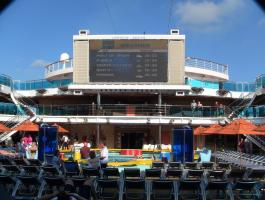Carnival Dream - Weather on pool TV