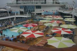 Royal Caribbean Oasis of the Seas - Pool Deck Umbrellas